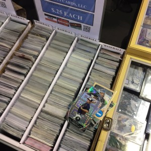 Card show $0.25 bins