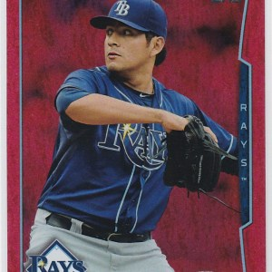 2014 Topps Update Red Sparkle Cesar Ramos