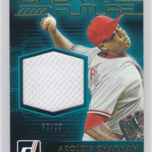 2017 Panini Donruss Back to the Future Relics /99 Aroldis Champman