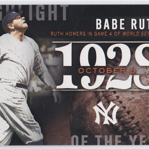 2015 Topps Highlight of the Year Babe Ruth