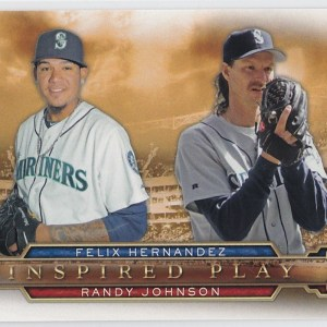 2015 Topps Inspired Play Felix Hernandez Randy Johnson