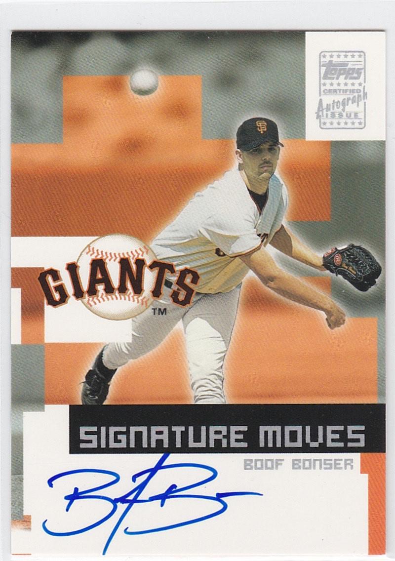 2002 Topps Traded Signature Moves Boof Bonser