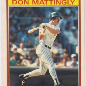 1986 Kay Bee Superstars Don Mattingly