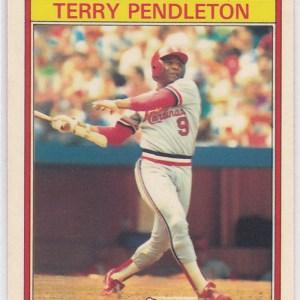 1986 Kay Bee Superstars Terry Pendleton