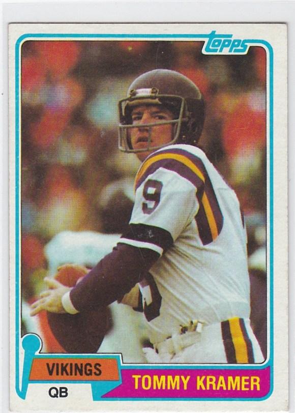 1981 Topps Tommy Kramer
