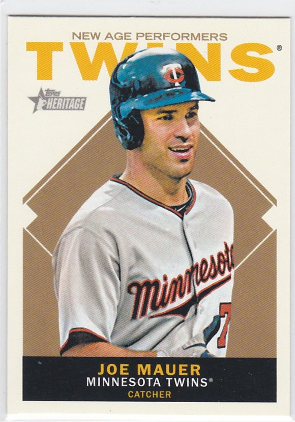2013 Topps Heritage New Age Performers Joe Mauer