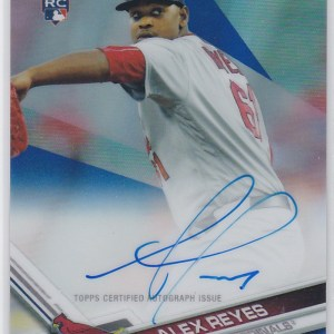 2017 Topps Chrome Blue Refractor Autograph Alex Reyes RC /150