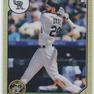 2017 Topps Chrome 1987 Topps Baseball David Dahl RC