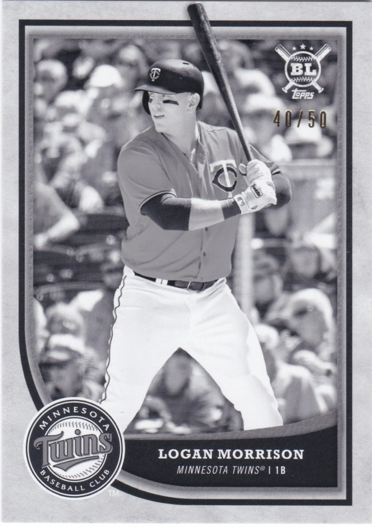 2018 Topps Big League Black and White #163 Logan Morrison /50