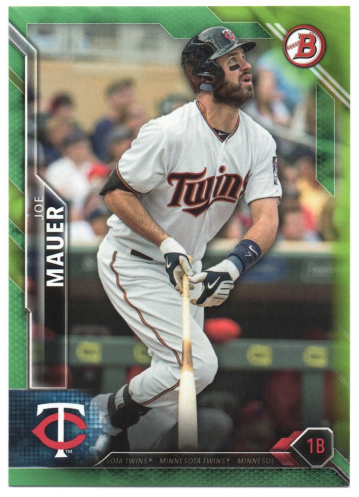 2016 Bowman Green #54 Joe Mauer /99