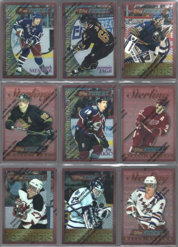 1995-96 Topps Finest Hockey set needs
