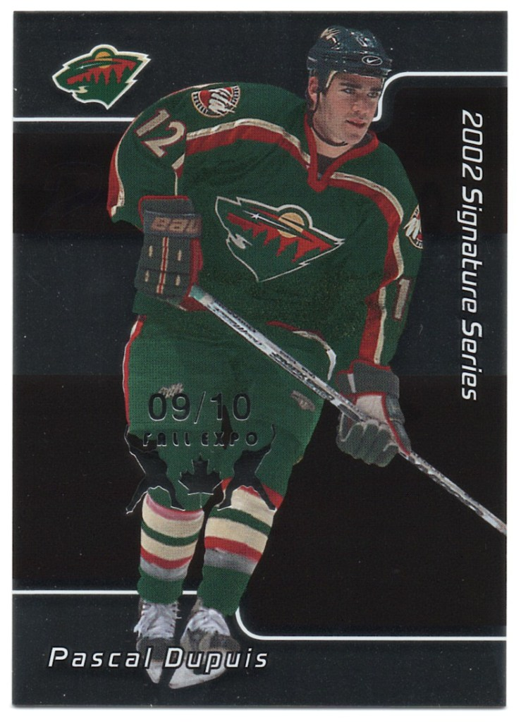 2001-02 In the Game Be A Player Signature Series Fall Expo #236 Pascal Dupuis /10