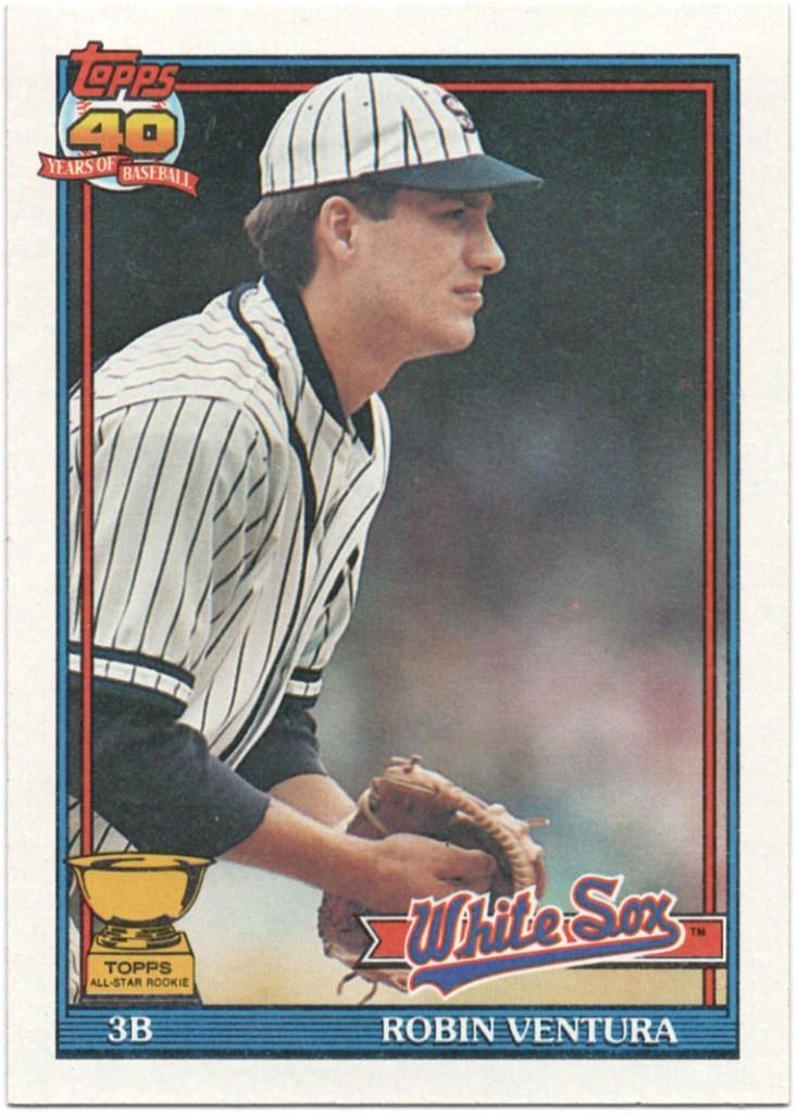 1991 Topps #461 Robin Ventura (Inner left line red)