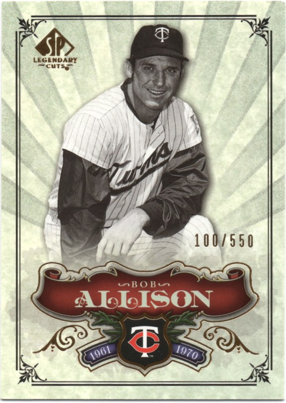 2006 SP Legendary Cuts #110 Bob Allison /550