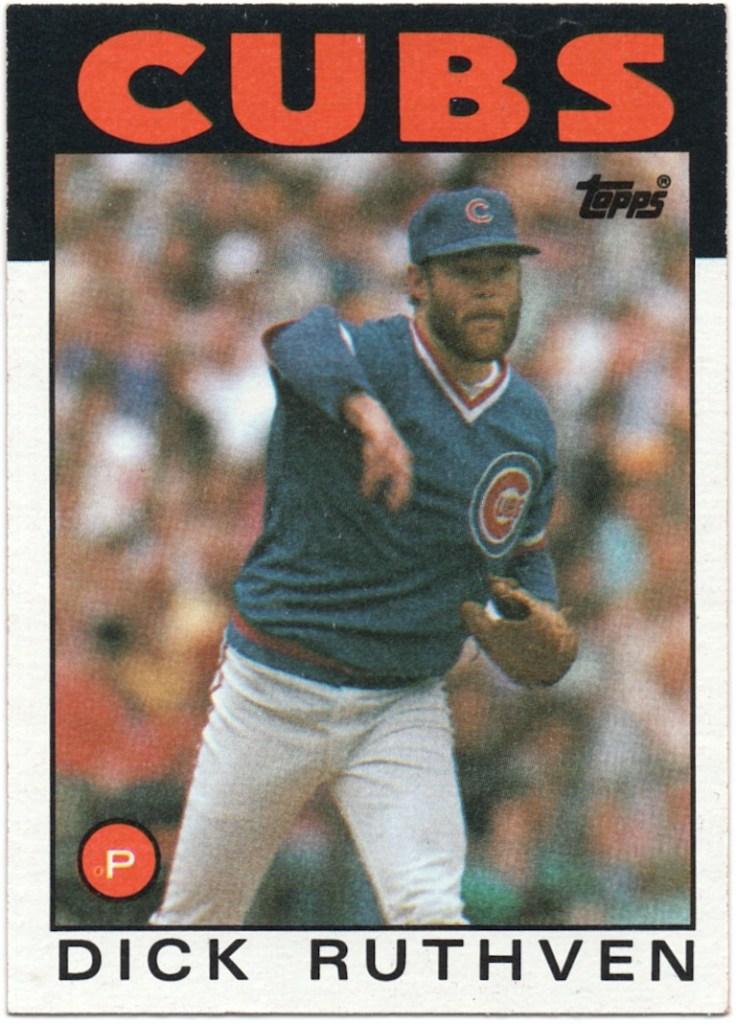 1986 Topps #98 Dick Ruthven