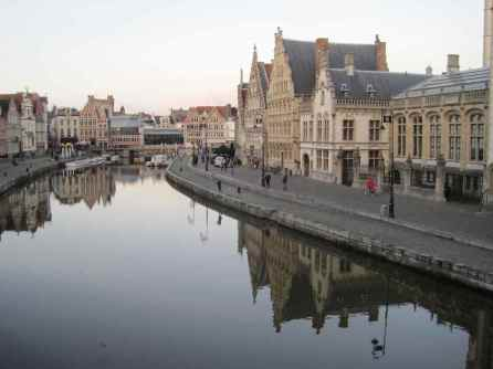 The Graslei in Ghent