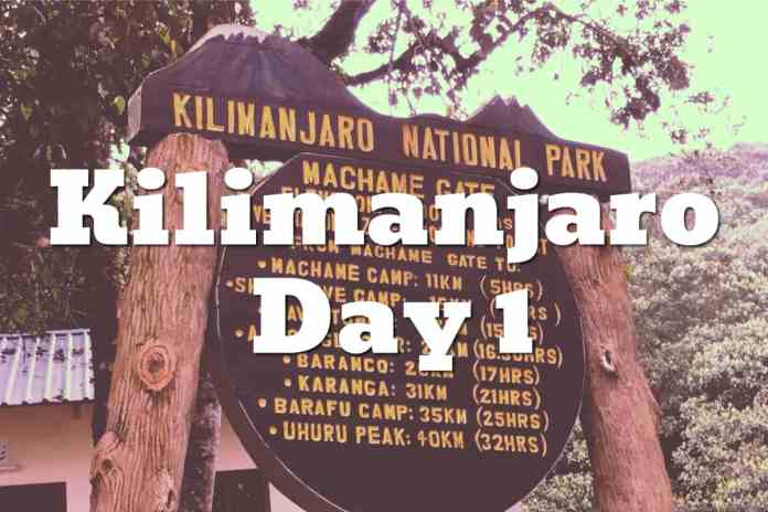Climbing Kilimanjaro Day 1 - Machame Route