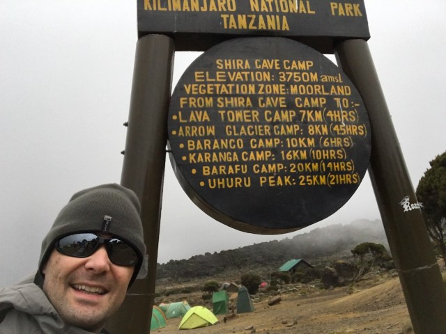 Kilimanjaro Day 2 to Shira Camp Sign