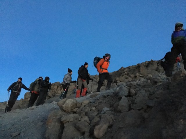 Kilimanjaro Day 6 Summit Day Early Morning Trek