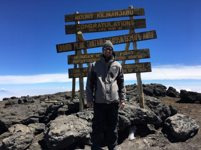 Kilimanjaro Day 6 Summit Day Uhuru Peak Sign