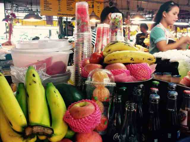 Fruit Shakes at Thanin Market