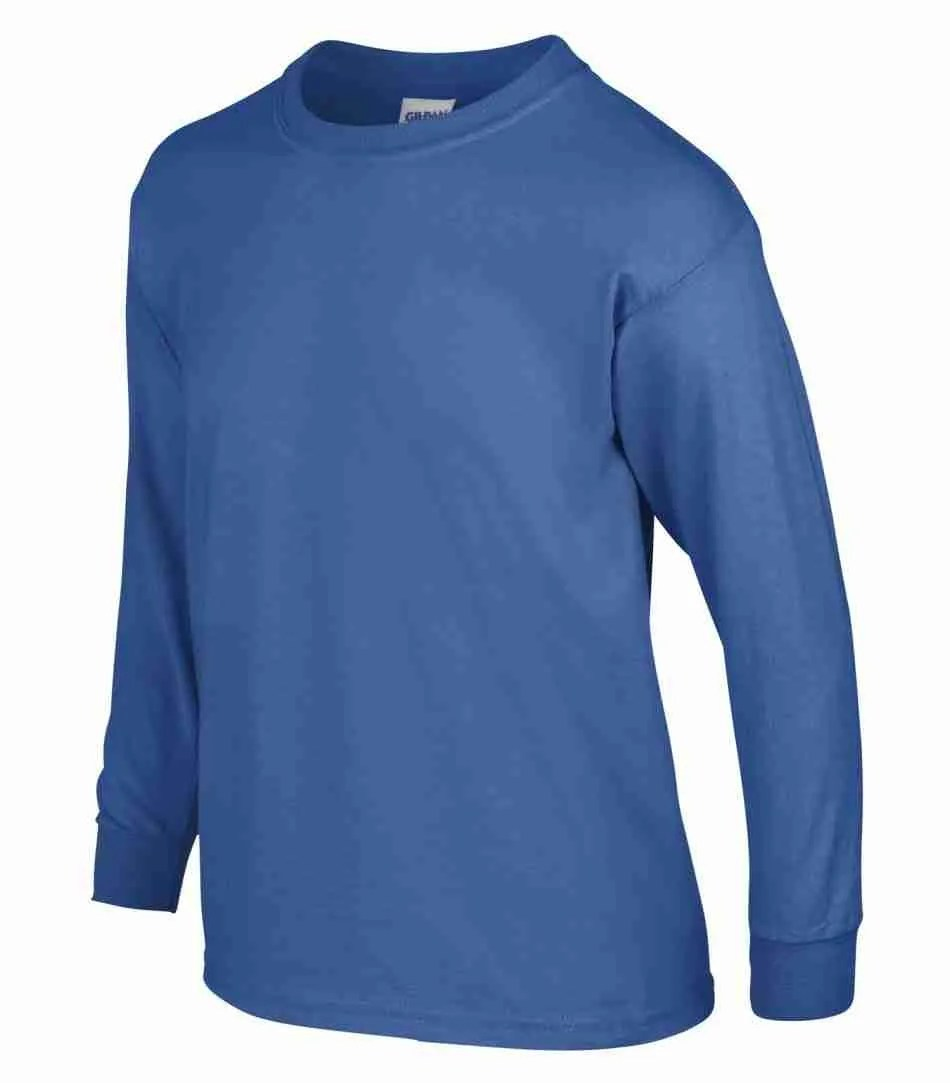 GILDAN ULTRA COTTON LONG SLEEVE YOUTH T-SHIRT 240B
