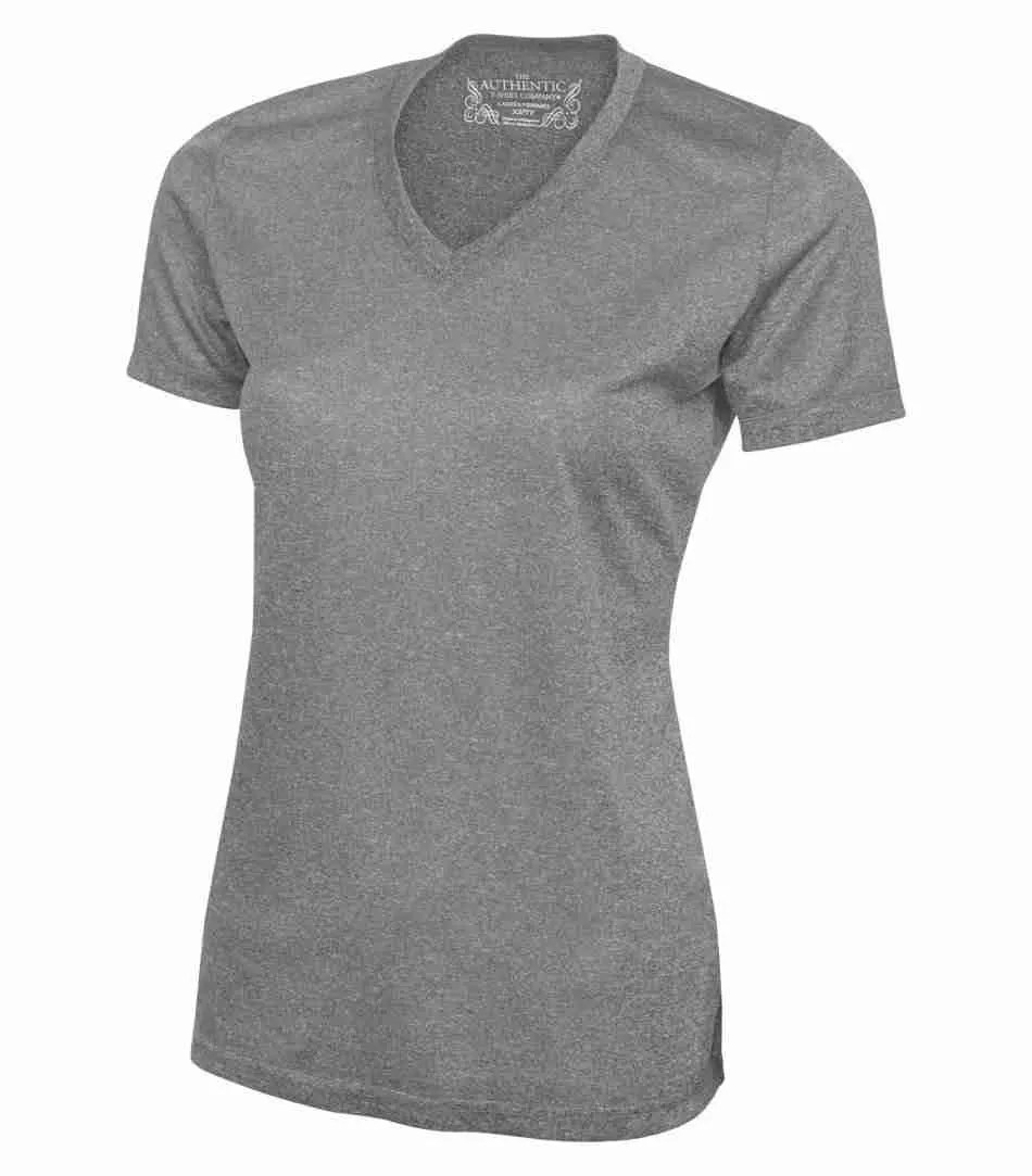 ATC PRO TEAM HEATHER ProFORMANCE V-NECK LADIES' TEE L3517