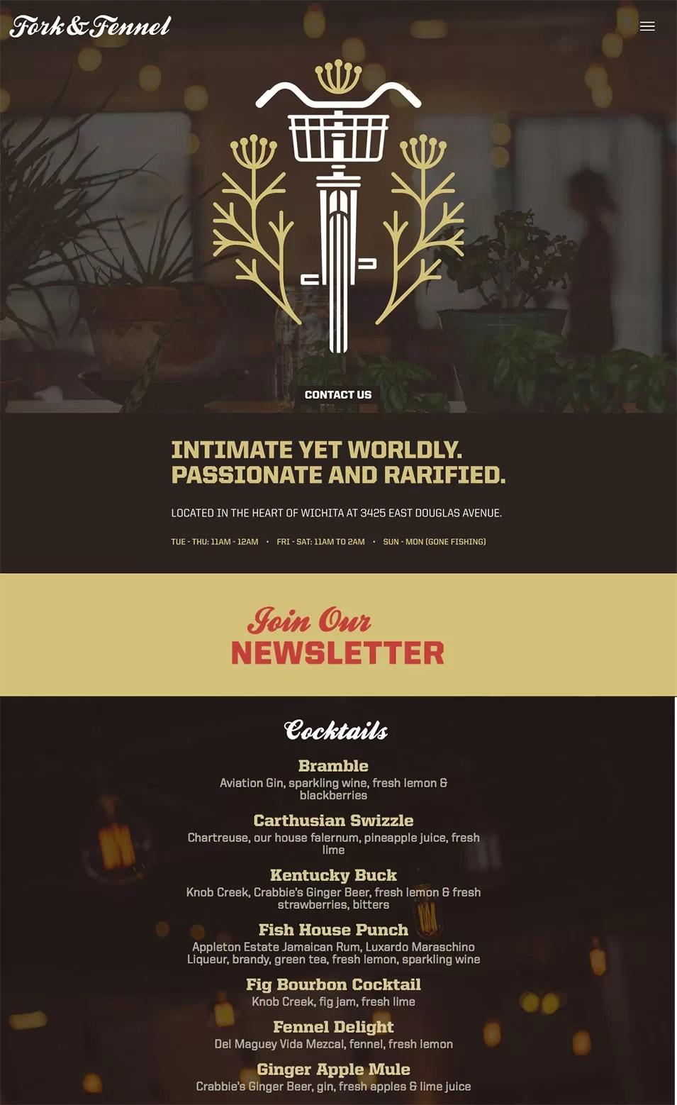 Fork & Fennel web design
