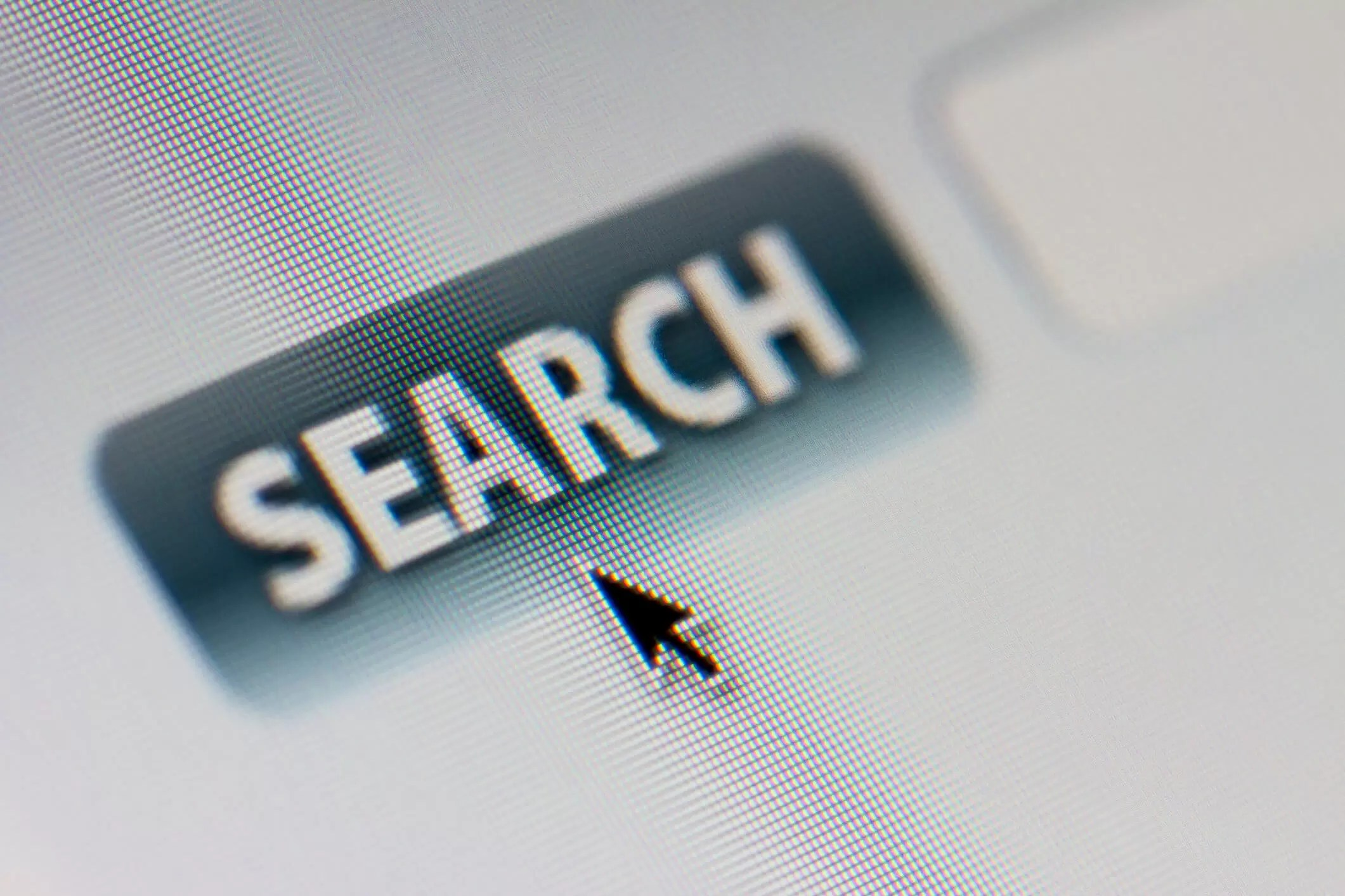 The word Search appears on a computer screen