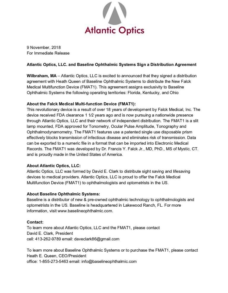 FMAT1 Press Release