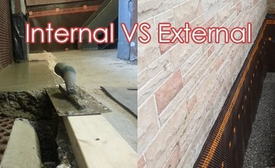 Interior Basement Waterproofing vs. Exterior Basement Waterproofing