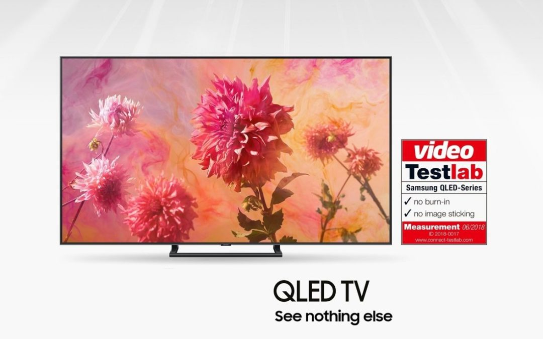 """مجلة """"فيديو"""" الألمانية ومختبر """"كونيكت تيست لاب"""" يعتمدان تلفزيونات  QLED كشاشات عرض خالية من مشكلة تطبع الصورة"""
