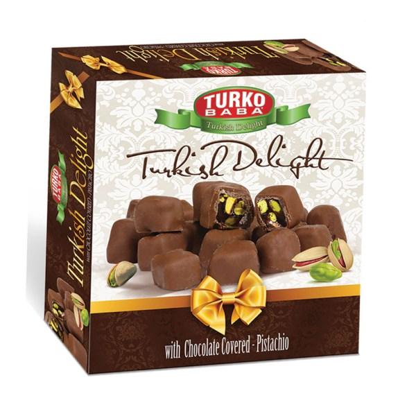 حلقوم تركي بالشوكولا والفستق الفاخر 350 غرام