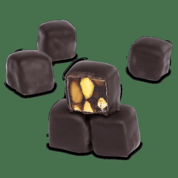 حلقوم مغطى بالشوكولا 500 غرام قهوة دنياسي