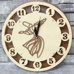 ساعة حائط خشب درويش مولوي