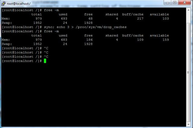 How free the RAM space in RHEL CentOS 7_bashcodes