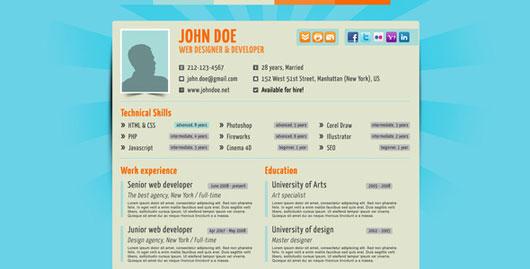 35 best online cv resume templates web amp graphic design bashooka