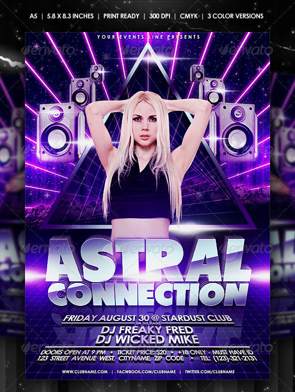 30 Vibrant Amp Colorful Party Flyer Templates Web Amp Graphic Design Bashooka