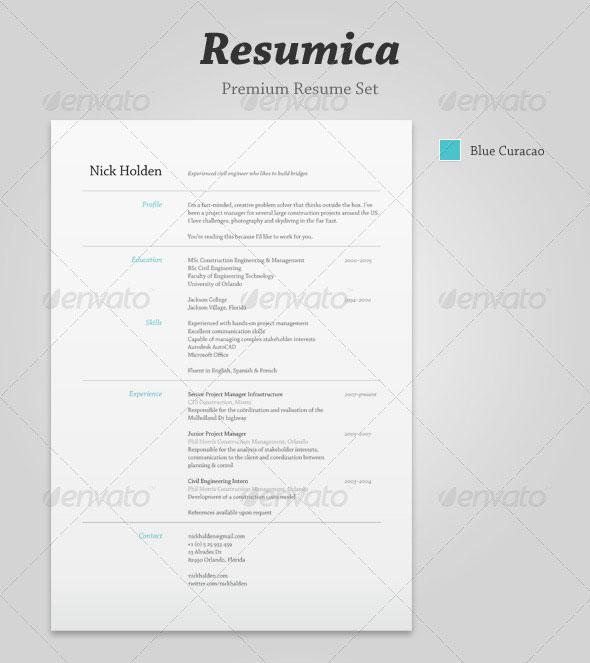 20 best resume templates web amp graphic design bashooka