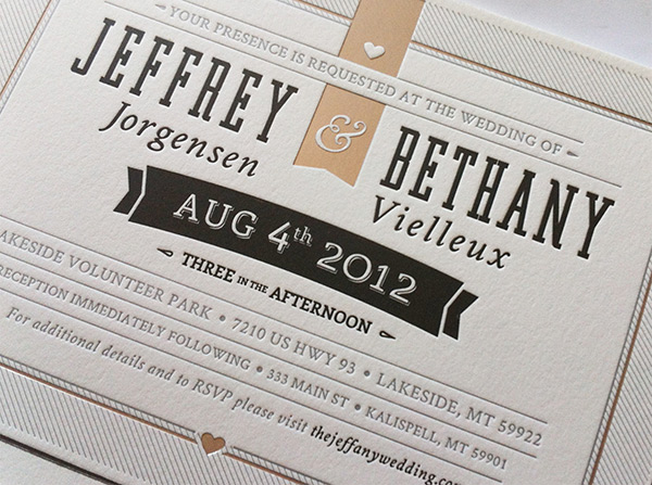 Printed Wedding Invite