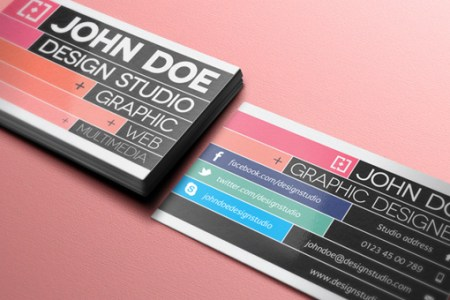 300 Free PSD Business Card Templates   Web   Graphic Design   Bashooka 001 graphic designer business card template vol 2