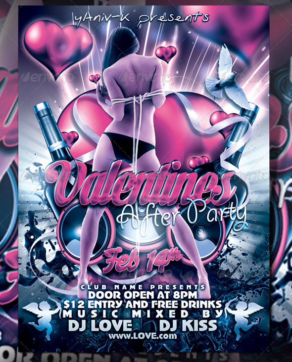 40 Sexy Valentines Flyer Templates Web Amp Graphic Design