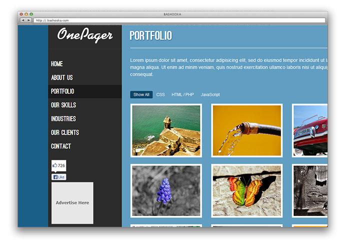 25 Free HTML Portfolio Website Templates Web Graphic Design Bashooka