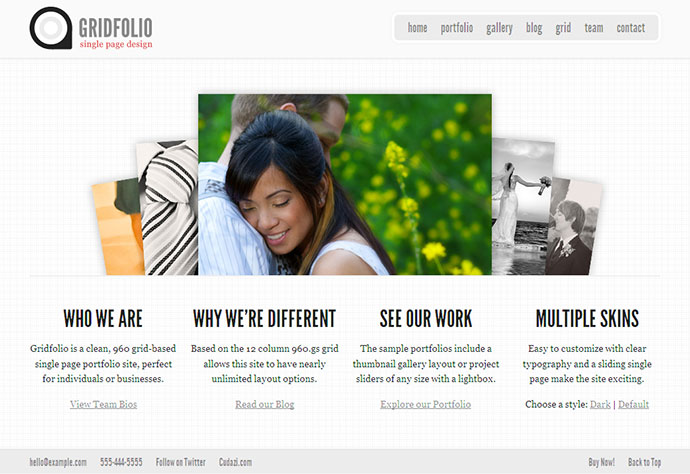 GridFolio - Grid Based Single Page Portfolio