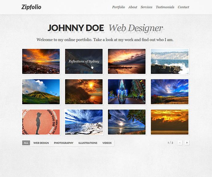 Zipfolio - Single Page Portfolio Template