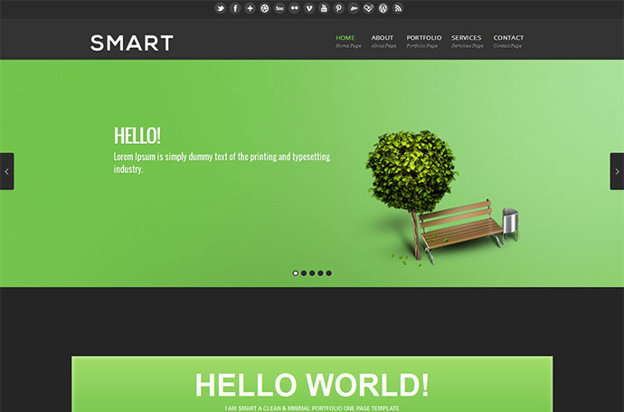 Smart  HTML/CSS One Page Template