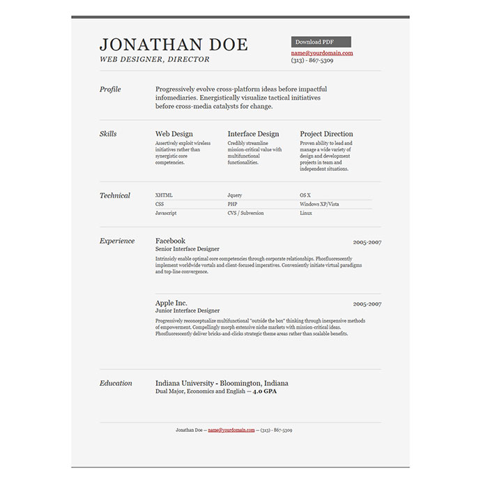 Really Good Resume Templates. An Of A An Of A. Do You Need An