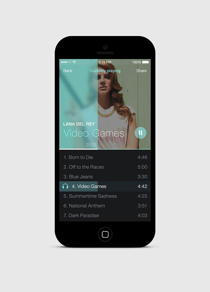 iOS7 Simple Music Player