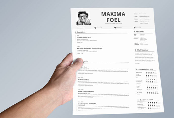 28 free cv html psd indesign web graphic