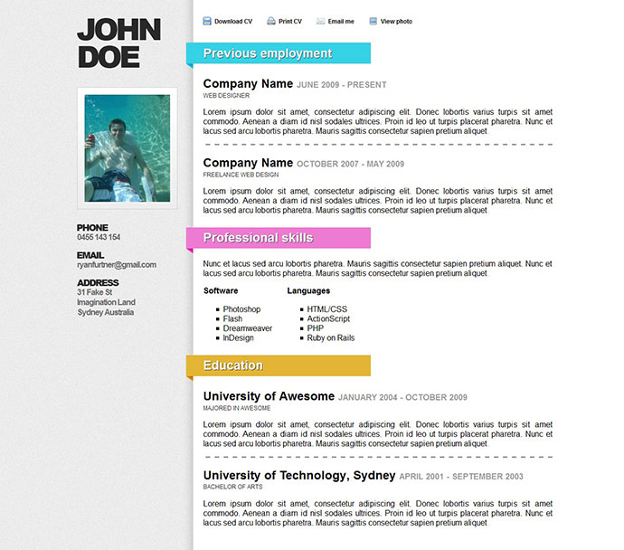 50 professional html templates graphic design